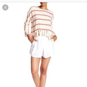 Brand new white yacht shorts